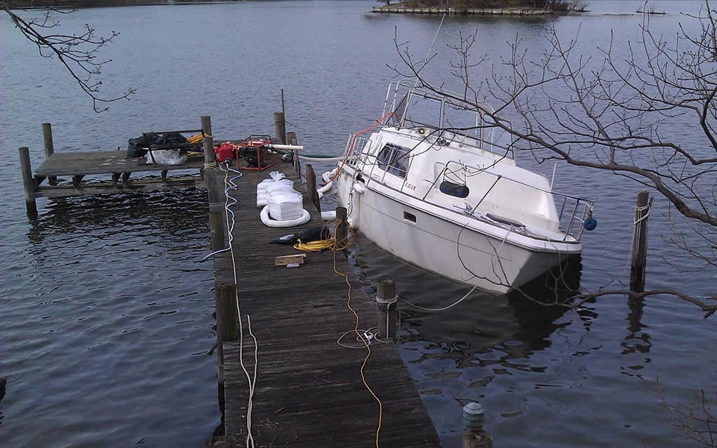36 ft Trojan Tri-cabin Salvage