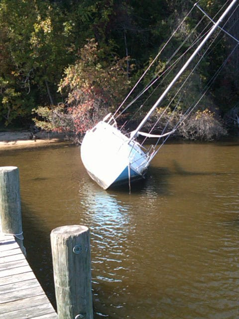 Salvage on the Severn River